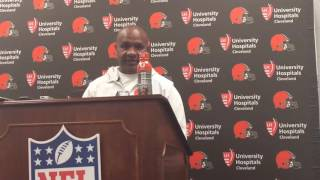 Download Browns coach Hue Jackson ends the discussion on benching Cody Kessler Video