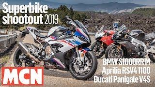 Download Superbike shootout 2019 - BMW S1000RR vs Aprilia RSV4 1100 vs Ducati Panigale V4S | MCN Video