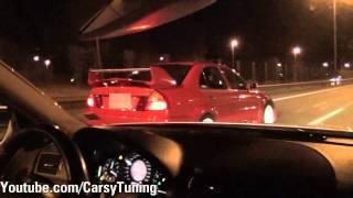 Download Mercedes Benz E63 AMG vs Mitsubishi Lancer Evo 6 TME Video