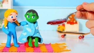 Download SUPERHERO BABY HAS A COLD ❤ SUPERHERO PLAY DOH CARTOONS FOR KIDS Video