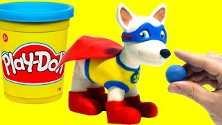 Download Paw Patrol Apollo the Super-Pup - Superhero Play Doh Cartoons & Stop Motion Movies for kids Video