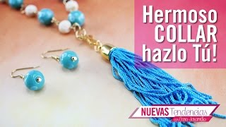 Download Como hacer un collar IG azul aguamarina kit 23262 Video