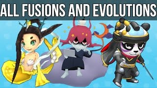 Download Yo-Kai Watch 2 - All Fusions and Evolutions Video