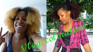 Download Vlog | Cheveux crépus | Décoloration et coloration de ma touff Video