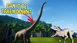 Download Jurassic World Evolution - T Rex vs Indominus Rex - Can The Largest Dinosaur Be Taken Down? Video