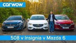 Download Peugeot 508 v Mazda 6 v Insignia Grand Sport - which is the best large family car? Video