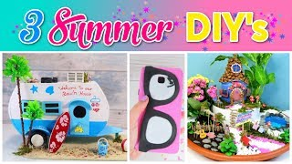 Download 3 SUMMER Crafts To Do When You're BORED! SIMPLE COMPILATION DIY! Amazing DIYs & Craft Hacks! Video
