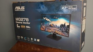 Download Asus MG278Q 144Hz Freesync Gaming Monitor - Review Video