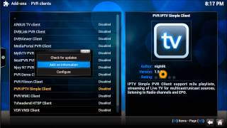 Download Brand New PVR IPTV SImple Client link for XBMC KODI 2015 ( Feb 2015 Link) Video
