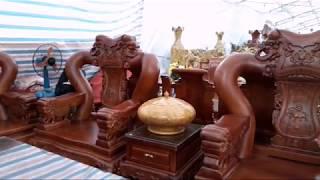 Download Bộ bàn ghế Khủng Gỗ BACHI Tay 20 giá 550 Triệu và nhiều tác phẩm Thủ Công Mỹ Nghệ đẹp Video