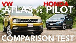 Download 2018 Volkswagen Atlas vs 2017 Honda Pilot Comparison Test Video