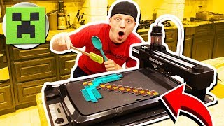 Download MAKING MINECRAFT PANCAKES WITH A PANCAKE ROBOT! Video