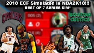 Download 2018 NBA ECF Simulated in NBA2k! Cavs VS Celtics BEST OF 7 - Sim Video