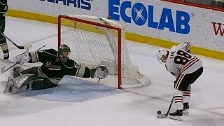 Download Dubnyk's diving save takes a sure goal away from Kane Video