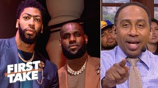 Download Stephen A. predicts a 2020 Lakers championship if Anthony Davis joins LeBron   First Take Video