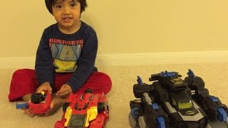 Download Kid playing with Remote control toys Batman Imaginext Batbot Video