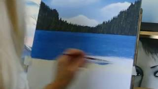 Download How to paint water, how to with acrylic paint lesson 4 easy technique for the beginner! Video