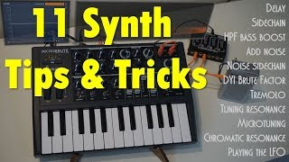 Download 11 Synth Tips and Tricks (shown on the MicroBrute by Arturia) Video