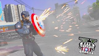 Download Captain America VS Minigunners ! Deflecting Bullets (GTA 5 Captain America Mod Gameplay) Video