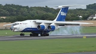 Download Silk Way IL76 Landing at Prestwick Airport Video