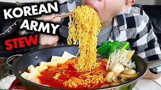 Download KOREAN ARMY BASE STEW MUKBANG ─ Super Spicy (Budae Jjigae 부대찌개) | STORYTIME: The Worst Day Ever #FML Video