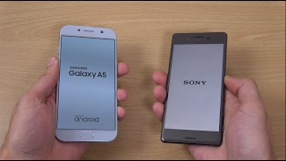Download Samsung Galaxy A5 2017 vs Sony Xperia X Android 7.0 Nougat - Speed Test! Video