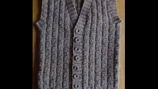 Download Мужской жилет спицами - Часть 1. Vest knitting for men Video