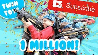 Download Nerf War: One Million Subscribers Video