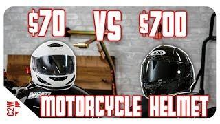 Download $70 vs $700 Motorcycle Helmet | Is it worth the price? Video