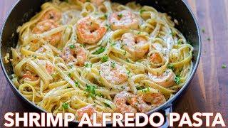 Download How To Make Creamy Shrimp Alfredo Pasta - Natasha's Kitchen Video