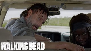 Download Rick and Michonne Destroy Walker Horde With Cars | The Walking Dead Classic Scene | Ep. 709 Video