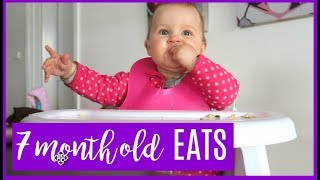 Download WHAT MY BABY EATS IN A DAY   7 MONTHS OLD Video