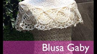 Download TEJE BLUSA GABY - Crochet Fácil y Rápido - Para Primavera Verano Video