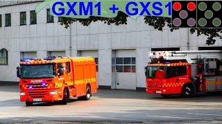 Download beredskab øst HTLF GXM1 + TMF GXS1 brandbil i udrykning Feuerwehr auf Einsatzfahrt Video