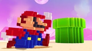 Download Super Mario Odyssey - 8-Bit Mario Outfit (DLC Showcase) Video