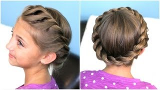 Download How to create a Crown Twist Braid   Updo Hairstyles Video