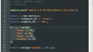 Download PHP Smarty Template Engine Tutorial Video