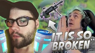 Download Ninja Reacts To New LMG And Uses It In-Game! Dakotaz Discovers Infinite Chug-Jug Glitch! Video