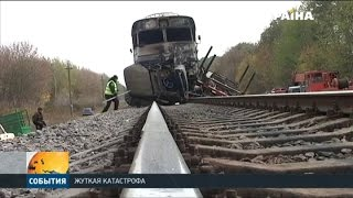 Download В Винницкой области пассажирский дизель-поезд столкнулся с лесовозом Video