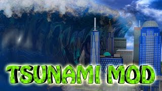 Download Minecraft | TSUNAMI DISASTER MOD Showcase! (Tsunami Destroys City, Zombies, Disasters, Tsunami) Video