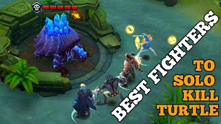 Download BEST FIGHTERS TO SOLO KILL TURTLE AT LEVEL 4 | MOBILE LEGENDS Video