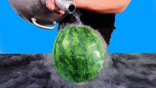 Download EXPERIMENT: LIQUID NITROGEN VS WATERMELON Video