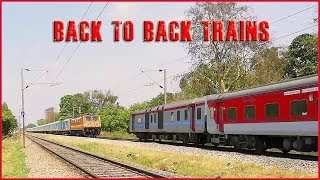 Download Back to Back Trains Rajdhani Express - Humsafar Express   Route Diverted Trains . Video