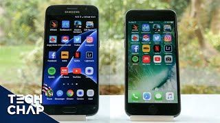 Download iPhone 7 vs Galaxy S7 Speed Test - Which is Faster? Video