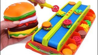 Download Hamburger Squishy Toy and Microwave Kitchen Toy Burger Mania Game Learn Fruits & Vegetables for Kids Video