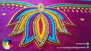 Download Lotus Design Works in Various Hand Embroidery Video