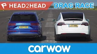 Download Tesla Model X vs Audi SQ7 - Electric vs Diesel acceleration challenge | Head2Head Video