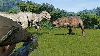 Download Let's Help Rexy VS Indominus Rex, Indoraptor and Spinosaurus(Modified) - Jurassic World Evolution Video