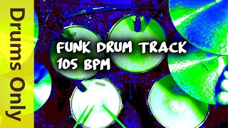 Download Funk Drum Beat / Backing Track 105 BPM Video