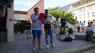 Download Za nezávislú RTVS: Živá reťaz okolo budovy Slovenského rozhlasu Video